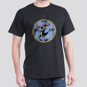 uss sea cat patch transparent Dark T-Shirt